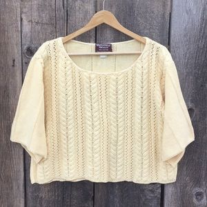 VTG Boxy Crop Top Mademoiselle Knitwear Sweater